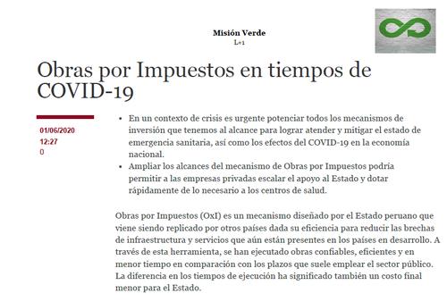 Obras por Impuestos COVID-19